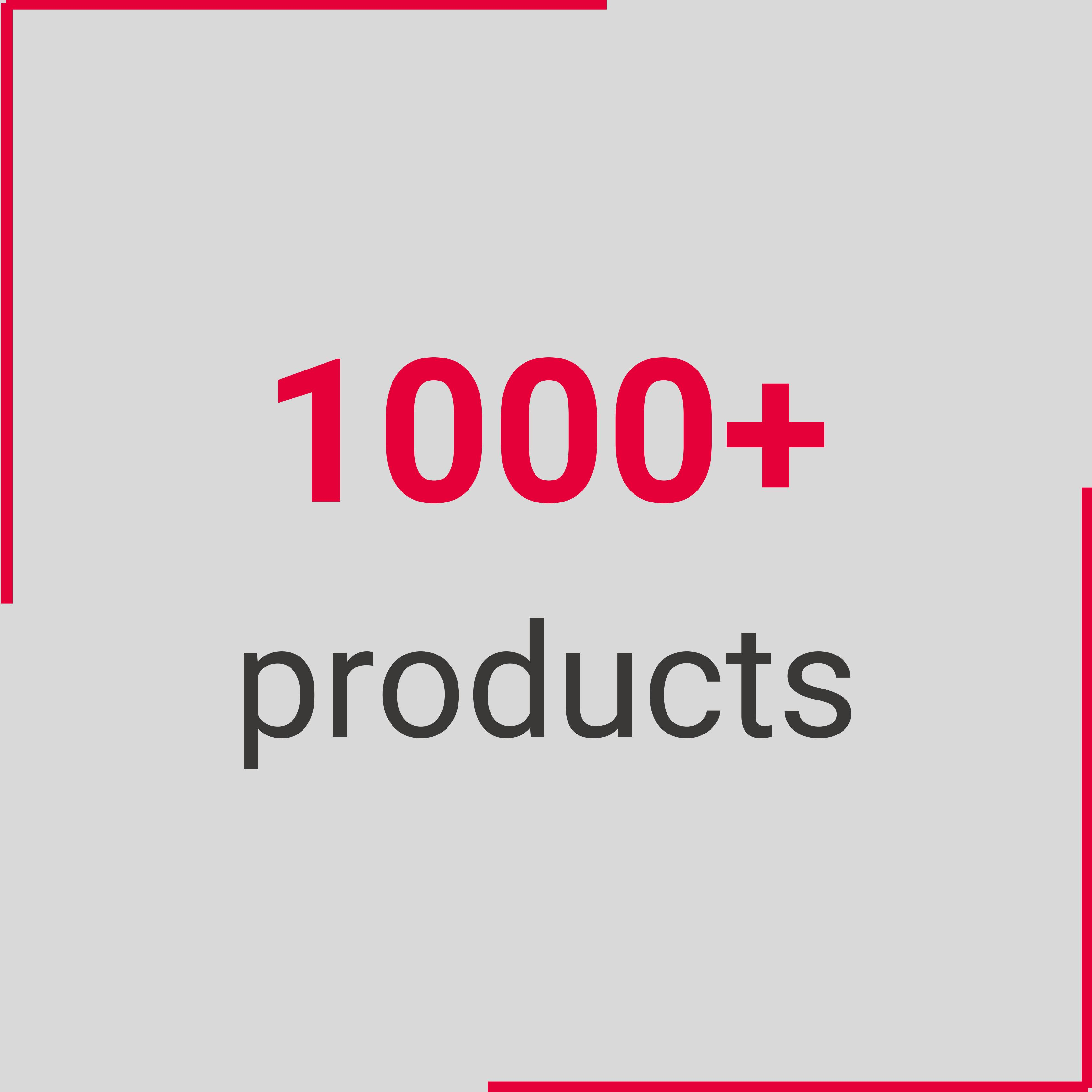 1000 products
